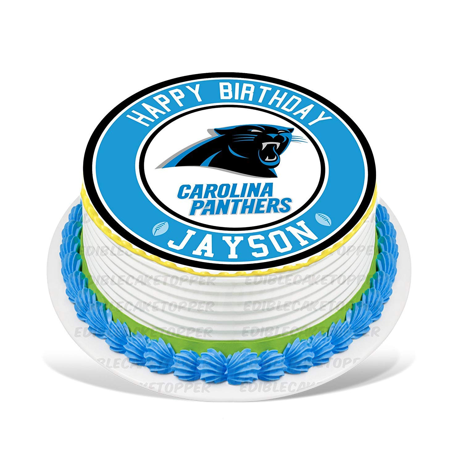 Carolina Panthers Edible Cake Topper Personalized Birthday 10