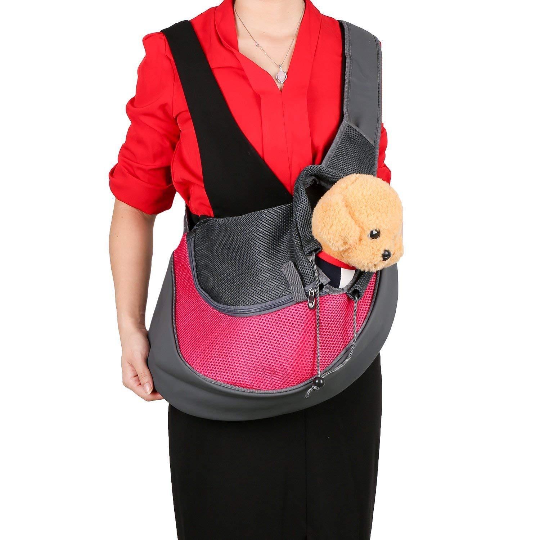Az/úl Peque/ño BIGWING Style-Bolso Bandolera para Llevar Perrito//gatito//mascota Portable Todo en Uno