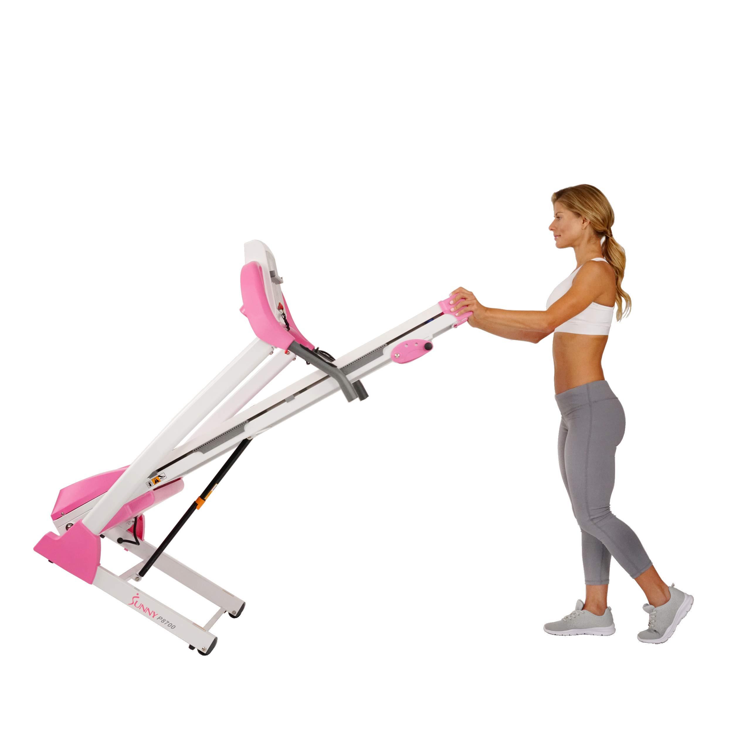 Sunny Health & Fitness P8700 Pink Treadmill by Sunny Health & Fitness (Image #11)