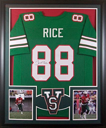 best service 557f6 35f3b Jerry Rice Mississippi Valley State Delta Devils Signed ...