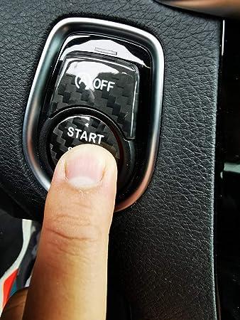 Satz Echt Voll Carbon Start Stop Knopf Button Cover Hülle Passend Für F20 F21 F22 F23 F30 F32 F33 F34 F35 F36 X1 X3 M135i M140i Auto