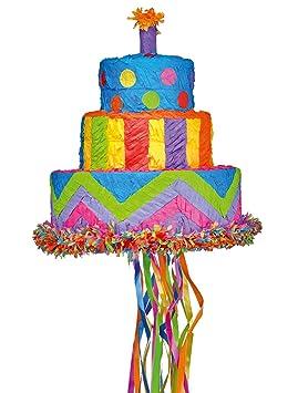 amscan p19699 - Juego de Accesorios de Pull Piñata Pastel de ...