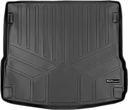 3D MAXpider Second Row Custom Fit Floor Mat for Select Porsche Macan Models Black Classic Carpet