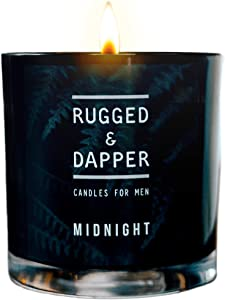 RUGGED & DAPPER, Midnight Premium Scented Soy Candle, 10 OZ