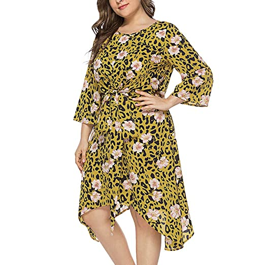 Amazon.com: BOLUBILUY Summer Dresses for Women,Plus Size Leopard ...