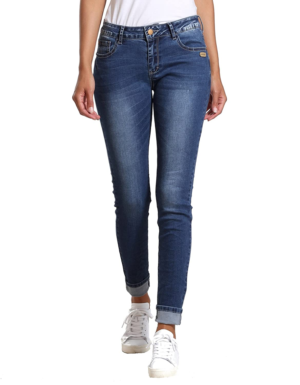 Gang Monique Skinny Fit High Rise Jeans, Farbe. Basic Blue, Gr.  W30  Amazon .de  Bekleidung 7980f41572