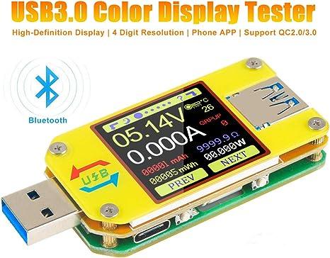 RIVELATORE di USB LCD Voltmetro Amperometro Tester Capacità Di Potenza Tensione Corrente Meter