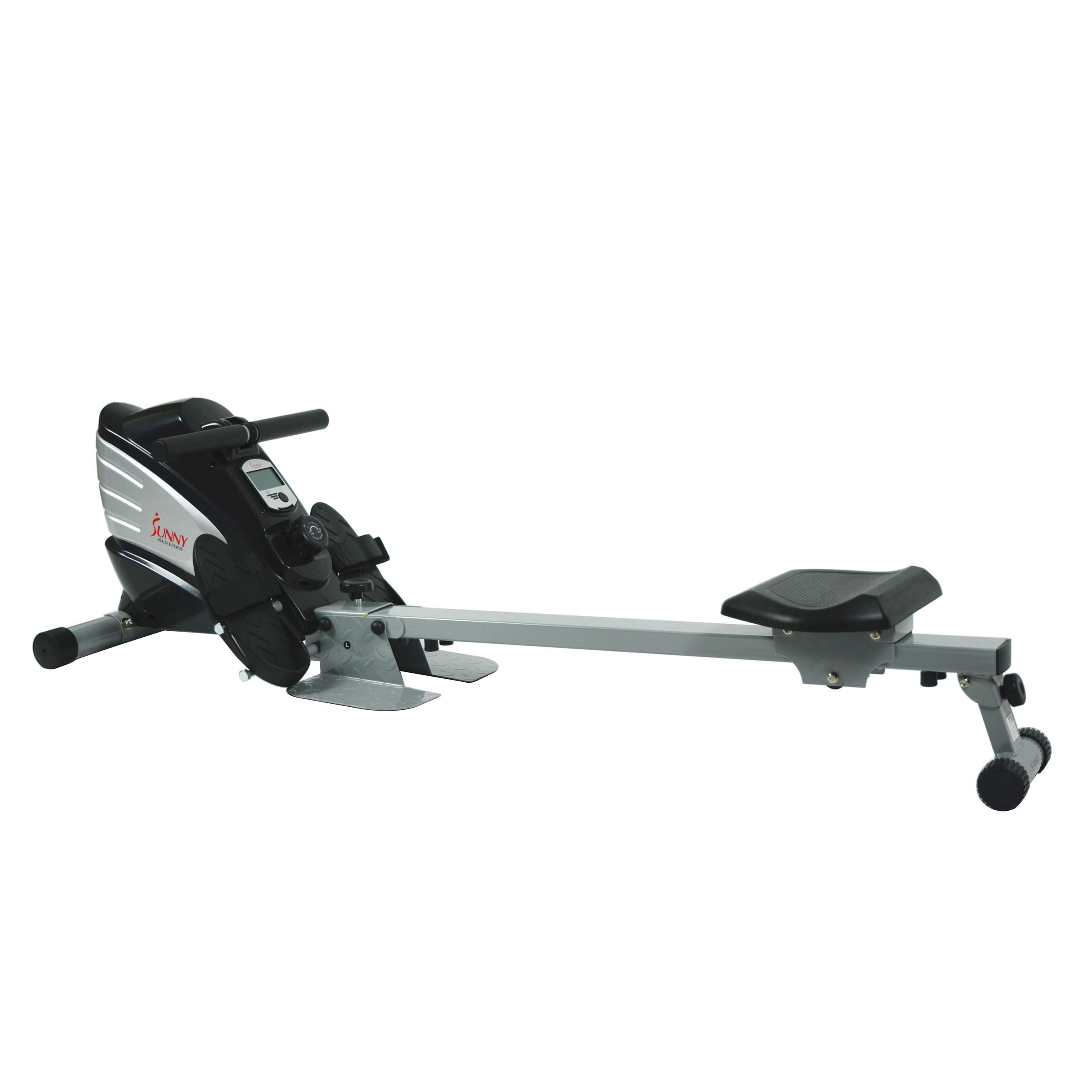 Sunny Health & Fitness Dual Function Magnetic Rowing Machine w/ Digital Monitor, Multi-Exercise Step Plates and Foldable -  SF-RW5622 by Sunny Health & Fitness (Image #3)