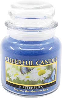 product image for A Cheerful Giver Butterflies 16 oz Jar Candle, Blue