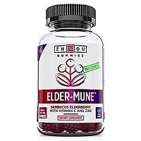 Elder-Mune Sambucus Elderberry Gummies - Antioxidant Flavonoids, Immune Support...