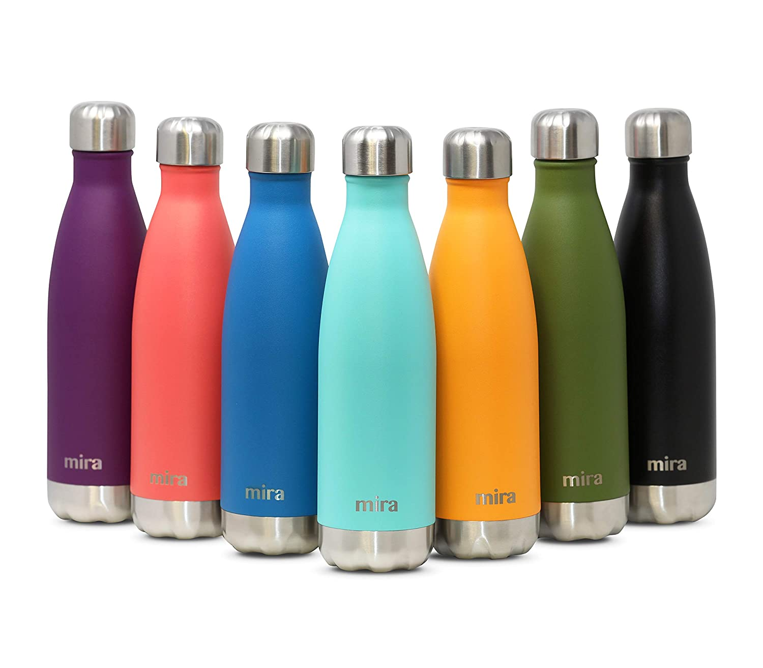4cd2a4710 Amazon.com  MIRA 17 Oz Stainless Steel Vacuum Insulated Water Bottle ...