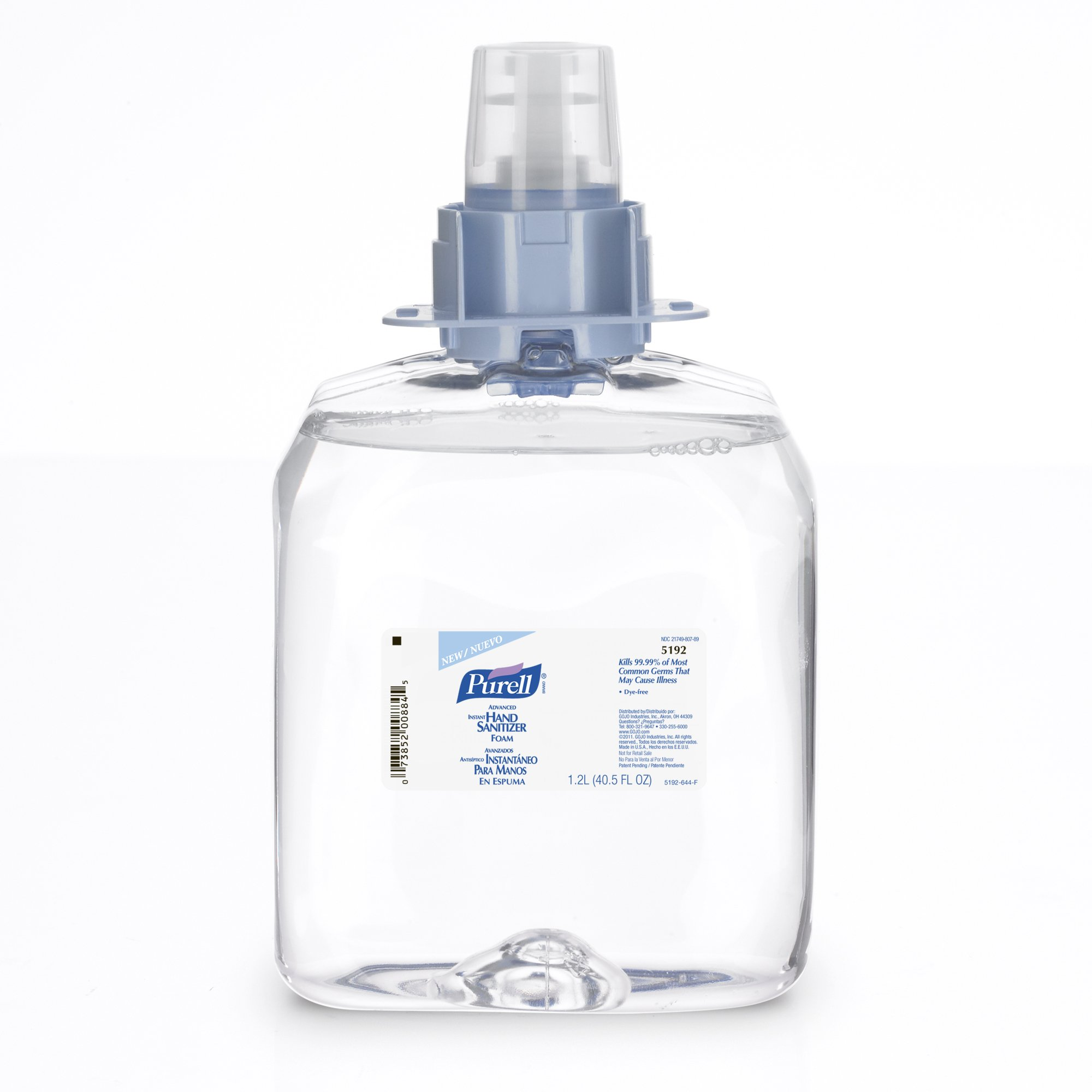 PURELL 5192-03 Advanced Instant Hand Sanitizer Foam, 1,200 mL FMX-12 Refill (Pack of 3)