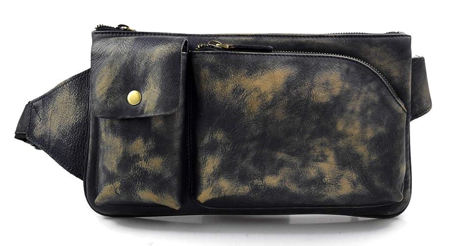 Monedero de cuero bolso del monedero de piel azul bolso ...