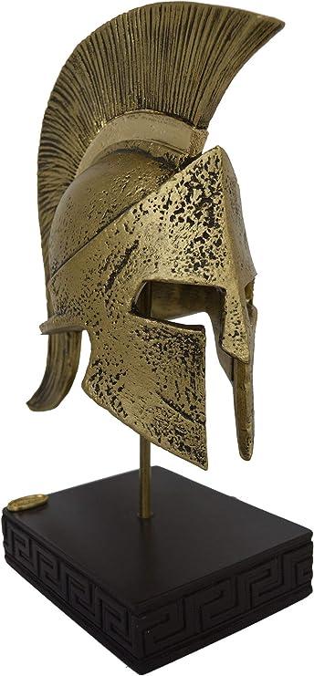 Talos Artifacts - Casco de Leonidas con escultura de héroe espartano y efecto bronce: Amazon.es: Hogar