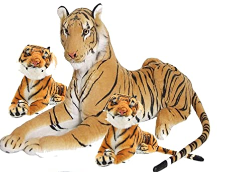 HARDI THRIVE Tiger with 2 Cubs Soft Toy | Animal with Babies Tiger with 2cubs