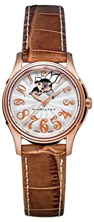 cae7a6665 Hamilton Women's Analogue Automatic Watch with Leather Strap H32345983