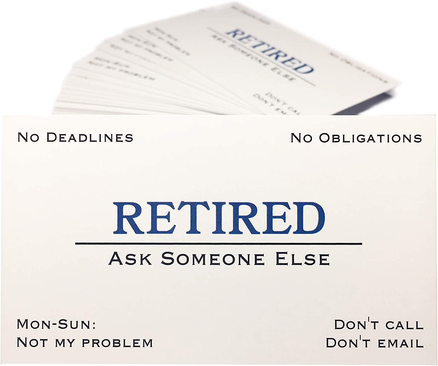 Out of Business Cards - Funny Retirement Gift for Men, Women, Coworkers, Employees, Boss, Friend, Colleague 71gU-7uKwNL