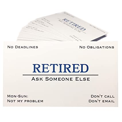Amazon Thingamagift Out Of Business Cards Funny Retirement