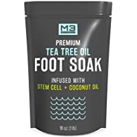 M3 Naturals Tea Tree Oil Foot Soak Infused with Stem Cell and Coconut Oil Epsom...