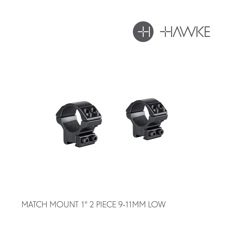 Hawke Match 1 9-11m/Medium 1 Piece Riflescope Ring Mount Rail