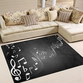 Amazon.de: ingbags Super Weiche Moderne Noten Musik, ein Wohnzimmer ...