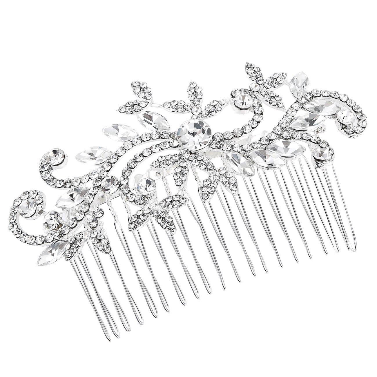 Strass en Argent Peigne à Cheveux Pour marrié Promo Fétes Mariage Accessoires FAYBOX BRIDAL AZWTS60046
