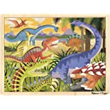 Melissa & Doug 19066 - Rompecabezas de madera - dinosaurios