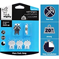 High & Mighty Hillman Fasteners 515313 5PC 20LB Pict Picture Hanger, One Size, Silver