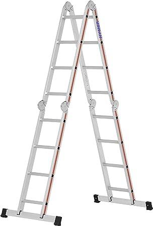 Hymer 404316 SC 40 - Escalera de mano (aluminio, 4 x 4 peldaños): Amazon.es: Bricolaje y herramientas