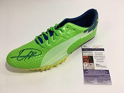 Image Unavailable. Image not available for. Color  Usain Bolt Signed Puma Bolt  Running Cleat Shoe ... 26803b89b