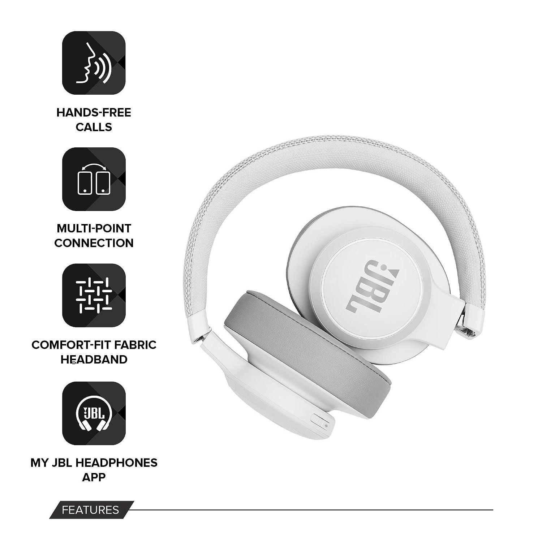JBL LIVE 500BT - Auriculares Inalámbricos con Bluetooth, Alexa integrada y Asistente Google, Sonido JBL Pure Bass con Tecnologías TalkThru y ...