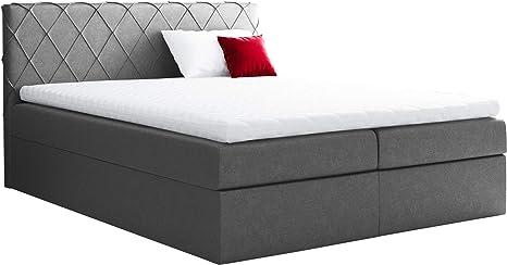Cama con somier y colchón Brasil, cama doble con somier y ...