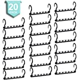 SMARTOR Sturdy Plastic Space Saving Hangers Pack of 20 Cascading Hanger Organizer Closet Space Saver Multifunctional Hangers