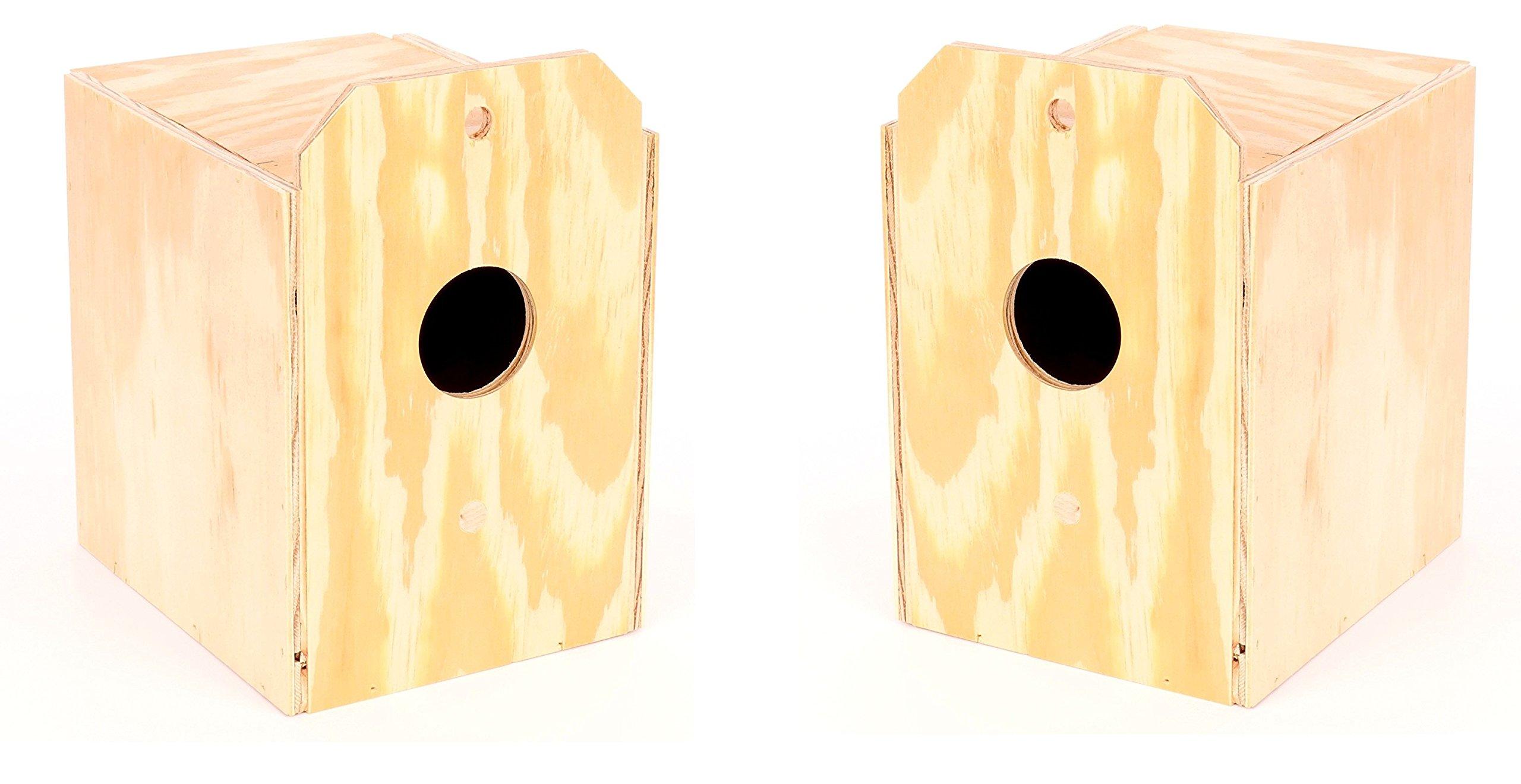 (2 Pack) Ware Manufacturing Wood Parakeet Reverse Nest Box, Keet