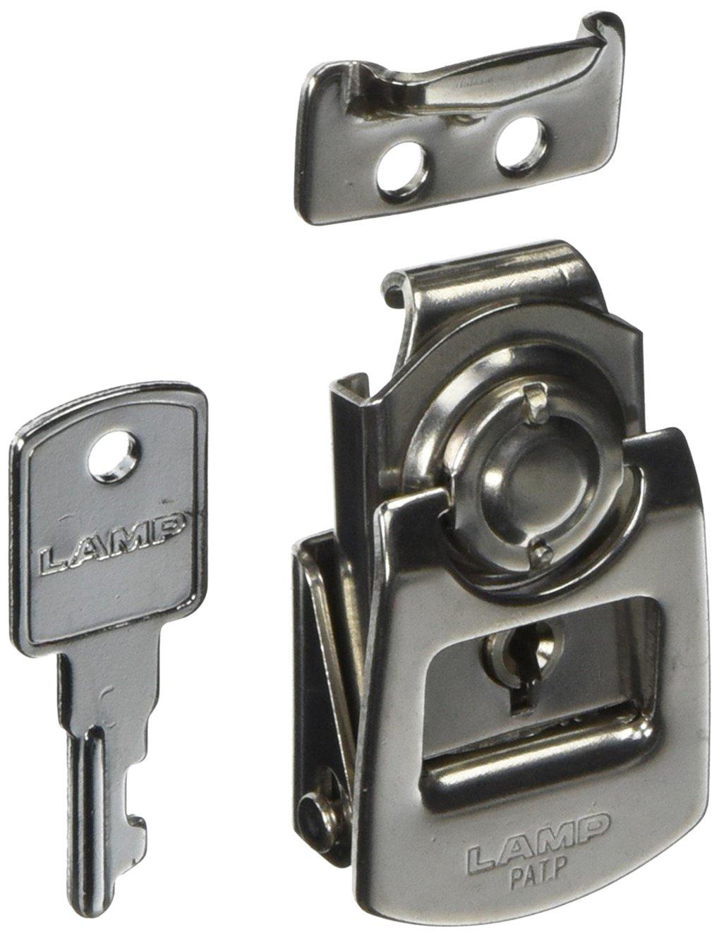 Stainless Steel 304 Mini Draw Latch, Plain Finish, Key Locking, 2 1/2'' Length (Pack of 1)