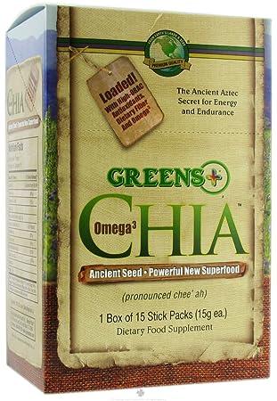 Amazon.com: Verdes Plus – Omega 3 Chía paquetes de Stick, 15 ...