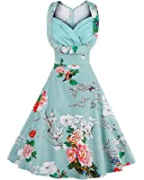 Rockabilly Floral Swing Dresse Women Pin Up D Elegant Vestidos