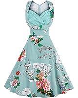 Rockabilly Floral Swing Dresse Women Pin Up D Elegant Vestidos