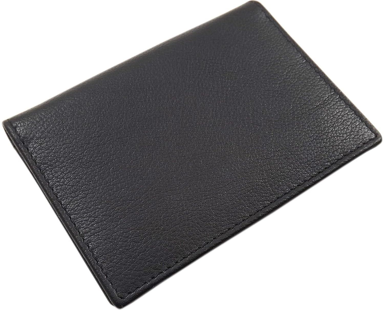 Cuero tarjetero para tarjeta de cr/édito o tarjetas de visita en el color de negro