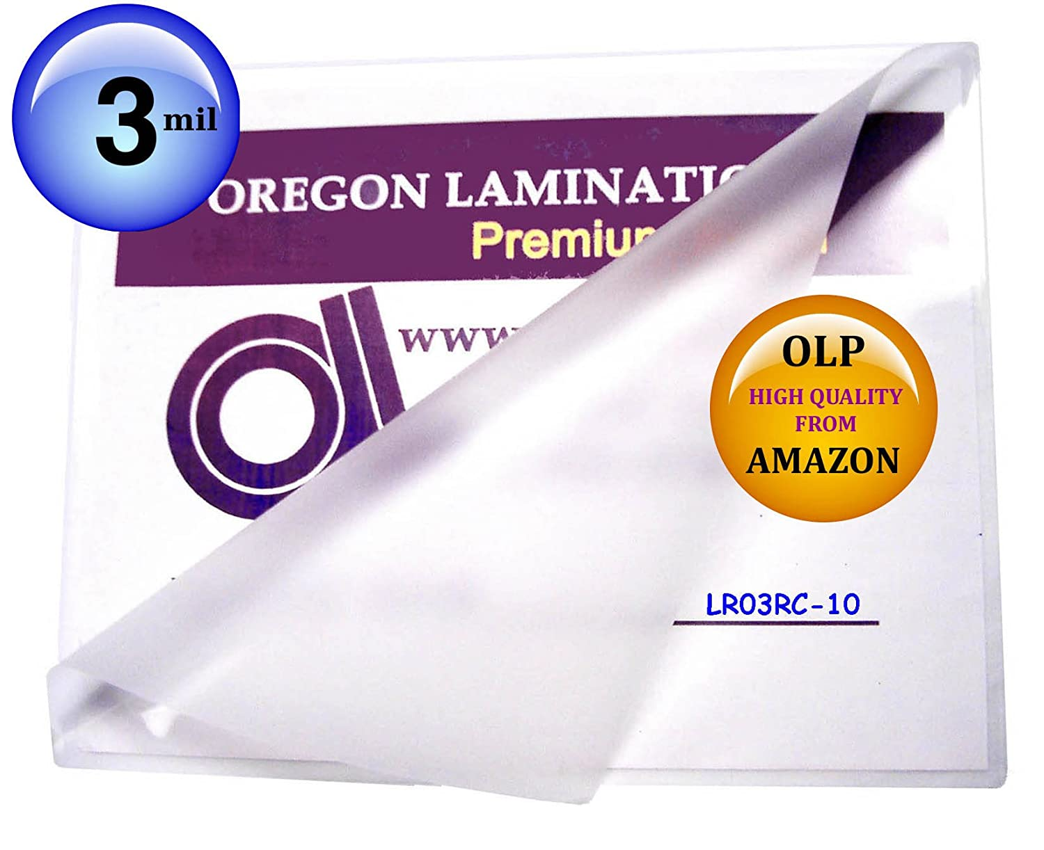 Qty 1000 OLP 3 Mil Letter Laminating Pouches 9 x 11-1/2 Hot Laminator Sleeves