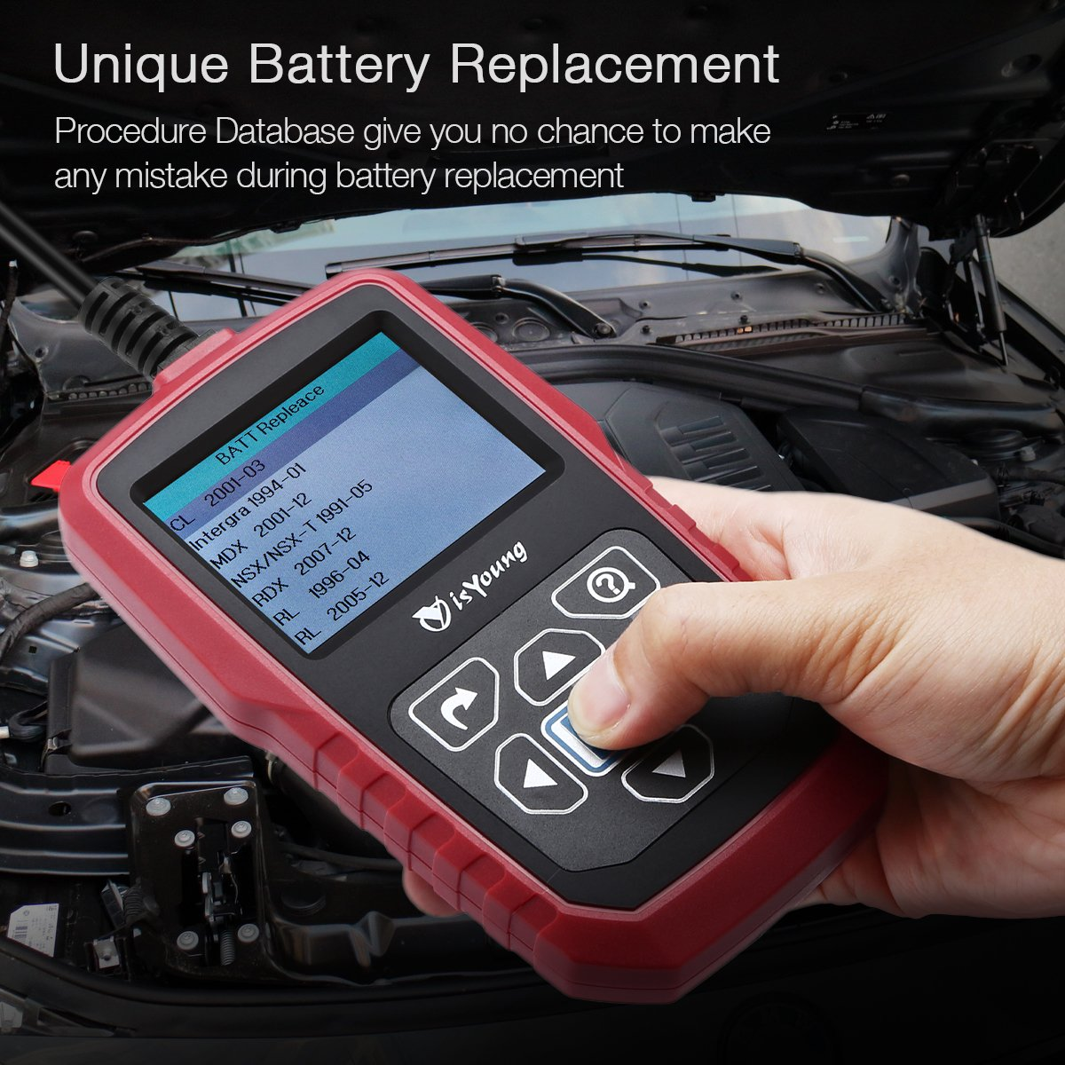 isYoung 12V&24V 100-2000 CCA Automotive Car Battery Load Tester, Cranking and Charging System Test Scan Tool for Cars, Heavy Duty Trucks, Motorcycle, and Marine Boad by isYoung (Image #7)