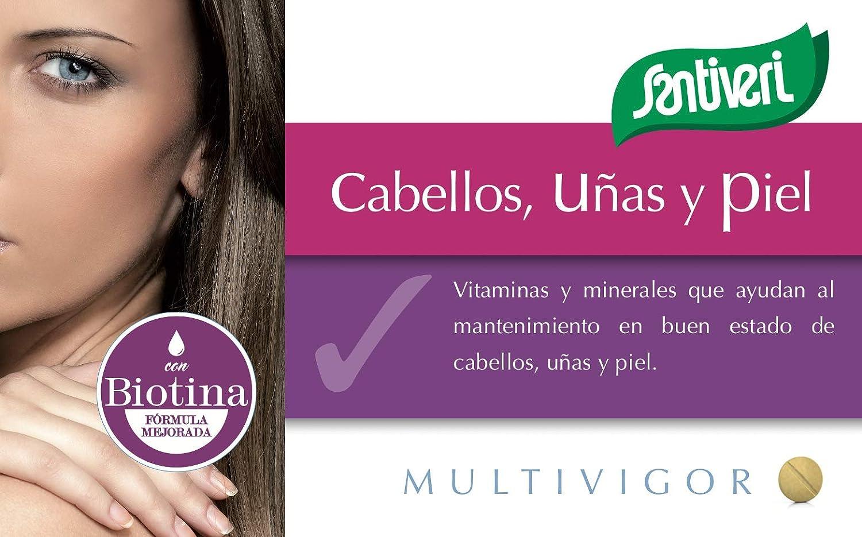 Complemento alimenticio Multivigor Cabellos, Uñas y Piel de Santiveri: contiene 48 comprimidos (35 gr): Amazon.es: Alimentación y bebidas