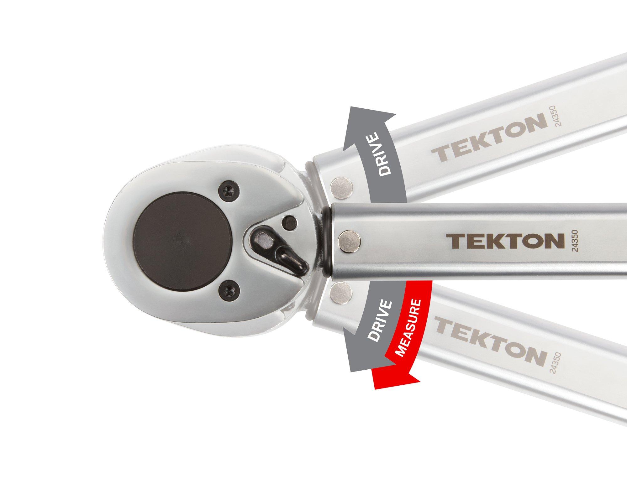 TEKTON 24350 3/4-Inch Drive Click Torque Wrench (50-300 ft.-lb./67.8-406.7 Nm) by TEKTON (Image #6)