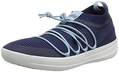 42ecd4870547 FitFlop Women s Uberknit Slip-ON Ghillie Sneakers Trainers (Royal Blue Mix  443)
