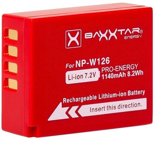 6 opinioni per Baxxtar Pro Batteria per Fujifilm NP-W126 NP-W126s (reale 1140mAh) per FinePix