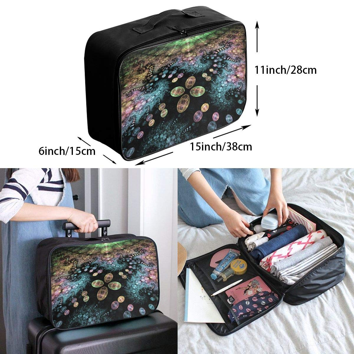 Travel Luggage Duffle Bag Lightweight Portable Handbag Egg Art Large Capacity Waterproof Foldable Storage Tote