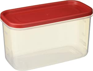Rubbermaid 071691688044 10-Cup Dry Food Container (Set of 2), 2 Pack Everyday, Clear