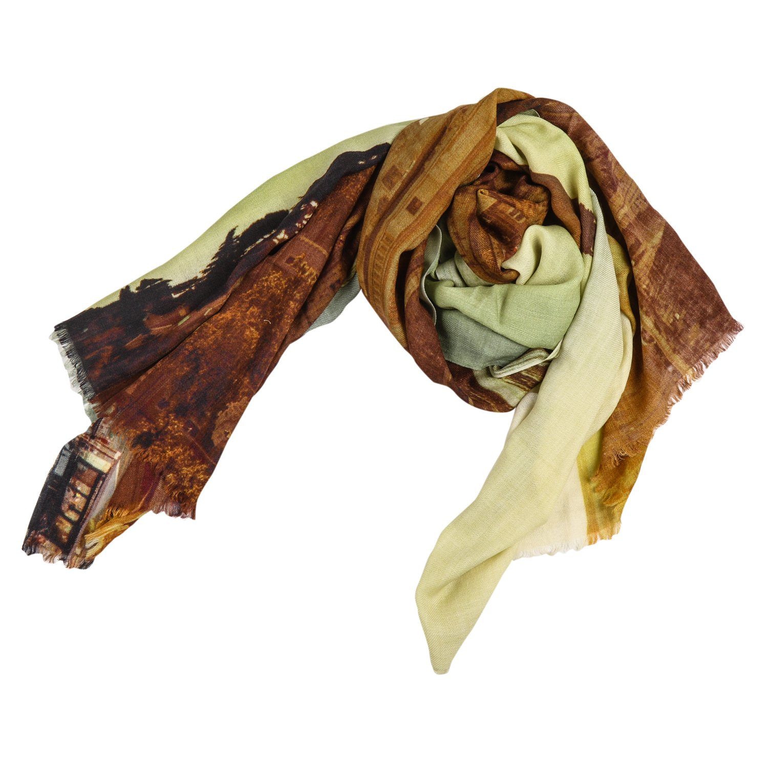 CG-13-RM,Multi colour,Wool Silk Cafsew Colours Womens Stole