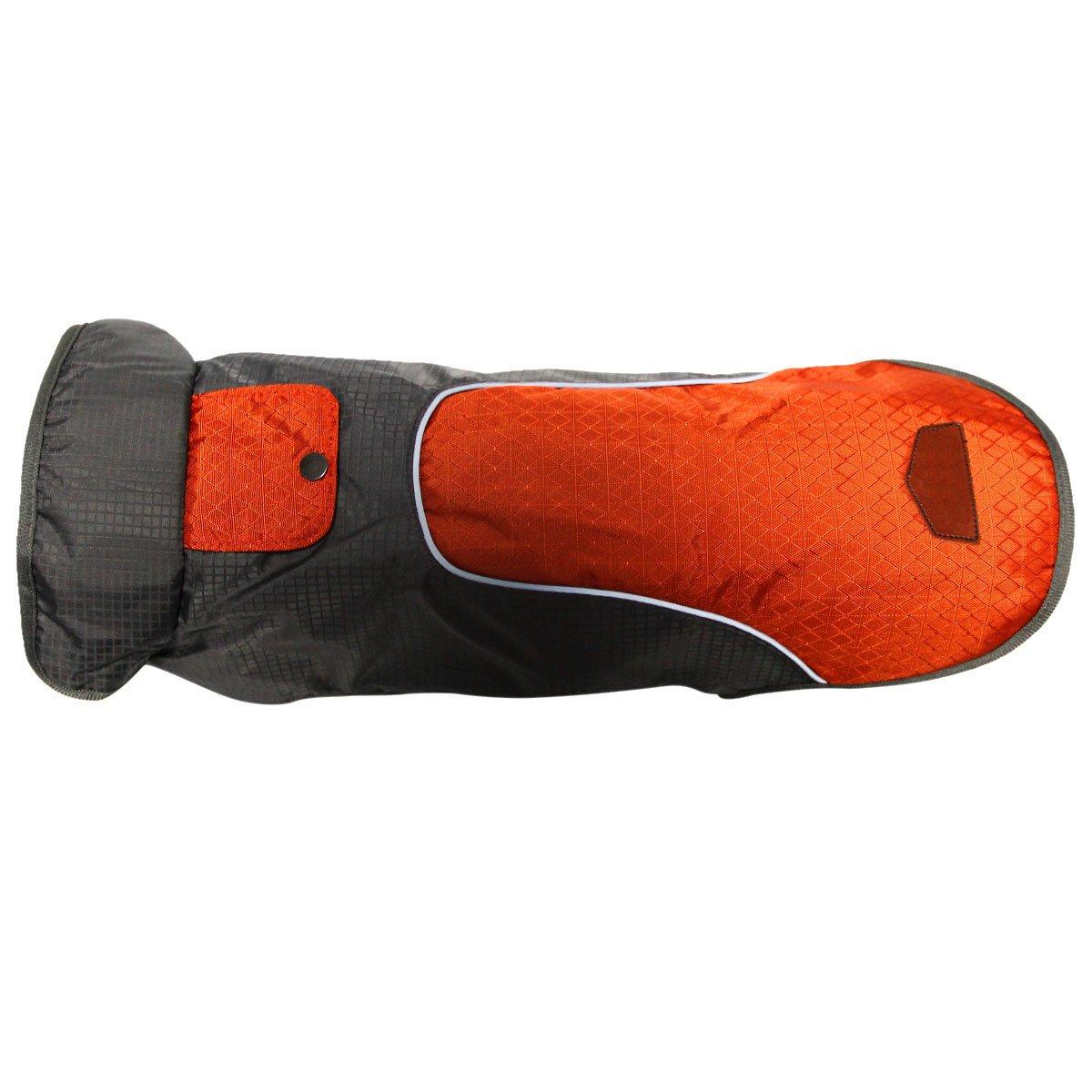 JoyDaog Premium Outdoor Sport Waterproof Raincoat Dog Jacket,Super Breathable Mesh Lined Dog Coats for Large Dogs, Orange XXXL by JoyDaog (Image #6)