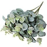 Artificial Flowers, Inkach Fake Leaf Eucalyptus Leave Simulation Leaves for Wedding Party Home Decor (Green)
